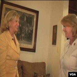 Kongresmenka Carolyn Maloney, vlasnica kuće sa sustanarkom, kongresmenkom Melissom Bean