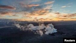 29일 아이슬란드 화산 바우르다르붕카 화산 주변 빙하지대 용암층 1킬로미터 구간에서 마그마 분출이 관측되었다.
