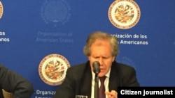 El secretario general de la OEA, Luis Almagro, presenta un informe sobre la situación en Venezuela.