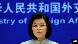 Jiang Yu porta-voz do ministério dos negócios estrangeiros da China