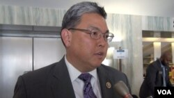 """U.S. Representative Mark Takai, a Democrat from Hawaii, says Asian-Americans should do a better job communicating with other communities. """"It's time for us to come out of our shell,"""" he says."""