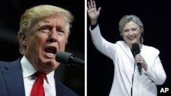 지난 대통령 선거운동 기간동안 유세를 펼치고 있는 도널드 트럼프(왼쪽) 공화당 후보와 힐러리 클린턴 민주당 후보.