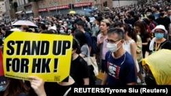 Antivladin protest u Hong Kongu (Foto: REUTERS/Tyrone Siu)