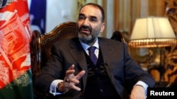 Atta Mohammad Noor, governor of the Balkh province, speaks during an interview in Kabul, Afghanistan, Jan. 25, 2017.