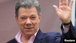 哥倫比亞現任總統桑托斯再次當選