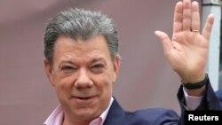 Representantes estadounidenses se reunieron en Bogotá con el presidente colombiano Juan Manuel Santos el 11 de noviembre.
