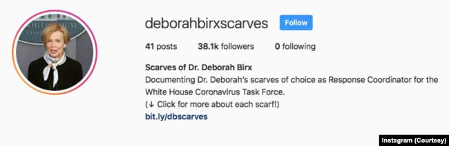 Instagram@deborahbirxscarves. (Foto: Courtesy/Instagram)