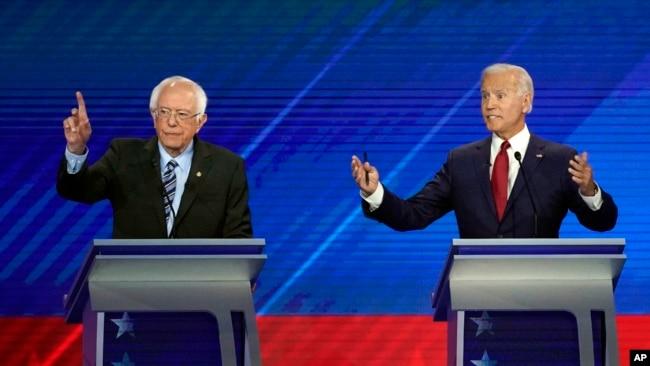 Bernie Sanders dhe Joe Biden