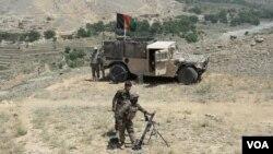 نظامیان افغان در ولسوالی پچیراگام ننگرهار