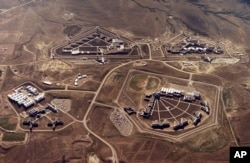 FILE - This Feb. 11, 2004, file photo provided by the Bureau of Prisons shows the Federal Correctional Complex in Florence, Colo. (Bureau of Prisons via The Gazette via AP, File)