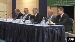 Kryetari i Parlamentit të Kosovës, Jakup Krasniqi, në Tiranë