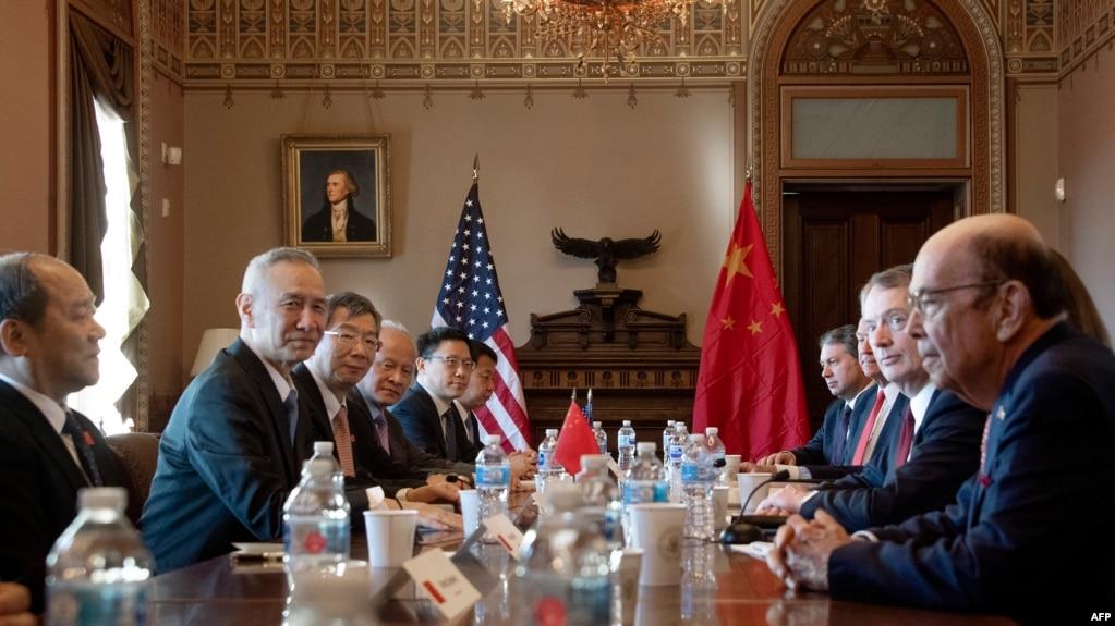 Đại diện Thương mại Mỹ Lighthizer, Bộ trưởng Thương mại Mỹ Ross gặp với Phó Thủ tướng Trung Quốc Lưu Hạc ở Washington, 30/1/2019
