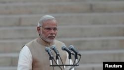 나렌드라 모디 인도 신임 총리가 지난달 26일 취임식에서 연설하고 있다. (자료사진)