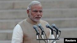 PM India Narendra Modi mendesak dihentikannya politisasi kasus perkosaan dalam pidato di New Delhi 11/6 (foto: dok).