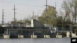 Гидроэлектростанция в городе Гамильтон, Огайо.