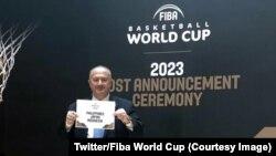 L'Indonésie, le Japon et les Philippines organiseront la Coupe du monde de basket en 2023, a annoncé samedi la Fédération internationale de basket (Fiba), , selon un tirage fait en Suisse, le 9 novembre 2017. (Twitter/Fiba World Cup)