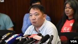 香港民主黨主席胡志偉。(美國之音湯惠芸)