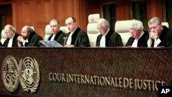 Para hakim Mahkamah Internasional atau ICJ (International Court of Justice) di Den Haag, Belanda melakukan sidang terbuka (foto: ilustrasi).