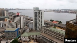 A view is seen of the Nigeria stock exchange building in the central business district in Lagos, April 10, 2013.