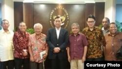 Tim advokasi bertemu Menko Maritim Luhut BP di Jakarta (Foto: dokumentasi Kemenko Kemaritiman)