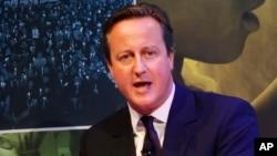 FILE - British Prime Minister David Cameron.