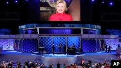 Hilari Klinton se zahvalila na nominaciji putem video linka