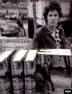 "A rack of magazines featuring Bruce Springsteen's autobiography ""Born to Run"" at a bookstore in Woodbridge, Virginia, Oct. 30, 2016. (Photo taken by Diaa Bekheet)"