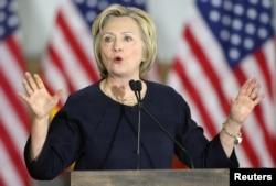 Ứng cử viên tổng thống Hillary Clinton phát biểu tại một cuộc mít-tinh ở Cleveland, Ohio, ngày 13/6/2016.