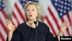 미국 대선에 출마한 민주당의 힐러리 클린턴 전 미 국무장관. (자료사진)
