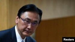 Ông Keiji Furuya, người đứng đầu ủy ban an toàn công cộng quốc gia và vấn đề bắt cóc của Nhật Bản.