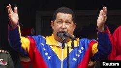 Chávez anunció que aterrizó a las 11:59 p.m., en el aeropuerto internacional Simón Bolívar.