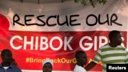 Abantu bagira imyiyerekano mu gisagara ca Chibok