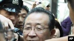 기자회견을하는 북한 외무성 김계관 제1부상(자료사진)