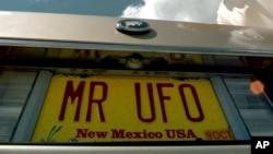 미국 50개 주 중 유일하게 U.S.A.라고 찍혀있는 뉴멕시코주 자동차 번호판.
