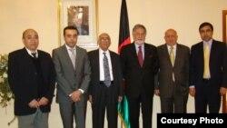 وزیر خارجه و شماری از دیپلماتهای افغان در پولند، عکس از سفارت افغانستان در پولند
