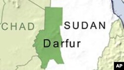 ແຜນທີ່ເຂດ Darfur ທີ່ມີບັນຫາຂອງຊູດານ ບ່ອນທີ່ທະຫານຮັກສາສັນຕິພາບຂອງອົງການສະຫະປະຊາຊາດ 7 ຄົນ ໄດ້ຖືກສັງຫານ.