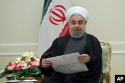 Iran's President Hassan Rouhani, Jan. 25, 2017.