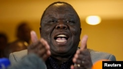 FILE PHOTO: Zimbabwe's former Prime Minister Morgan Tsvangirai won't be challenged at the party's elective congress next month.