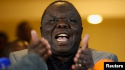 Zimbabwe's former Prime Minister Morgan Tsvangirai says President Mugabe should come out in the open about his recent trip to China, which appears to have not benefited the nation. (File Photo)