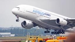 Hình tư liệu - Một chiếc máy bay Airbus A380 cất cánh tại Paris Air Show ở Le Bourget, phía bắc Paris, ngày 18 tháng 6 năm 2015.