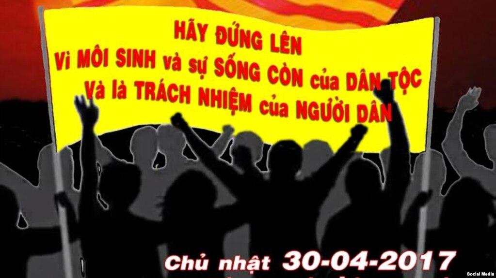 Lời kêu gọi biểu tình ngày 30-4 ở Paris (Ảnh chụp từ trang lyhuong.net)