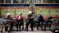 中國退休長者。