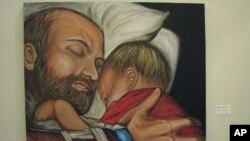 雷吉娜·霍利迪在丈夫因癌症去世后沉浸于绘画