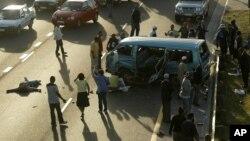 Un accident de circulation au Cap, Afrique du Sud