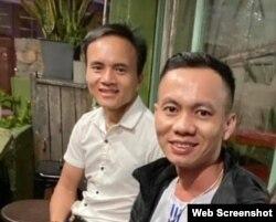 Nhà hoạt động Đậu Văn Dương và Trần Hữu Đức khi còn ở Việt Nam. Photo Facebook Le Nguyen Phuong Tram