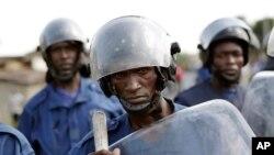 Polisi wakijaribu kuzuia maandamano Bujumbura