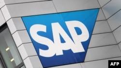 Le logo de l'entreprise SAP, à Walldorf, Allemagne, le 24 janvier 2017.