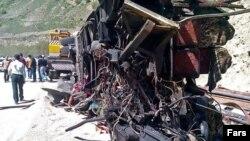 واژگونی اتوبوس مسافران در سواد کوه
