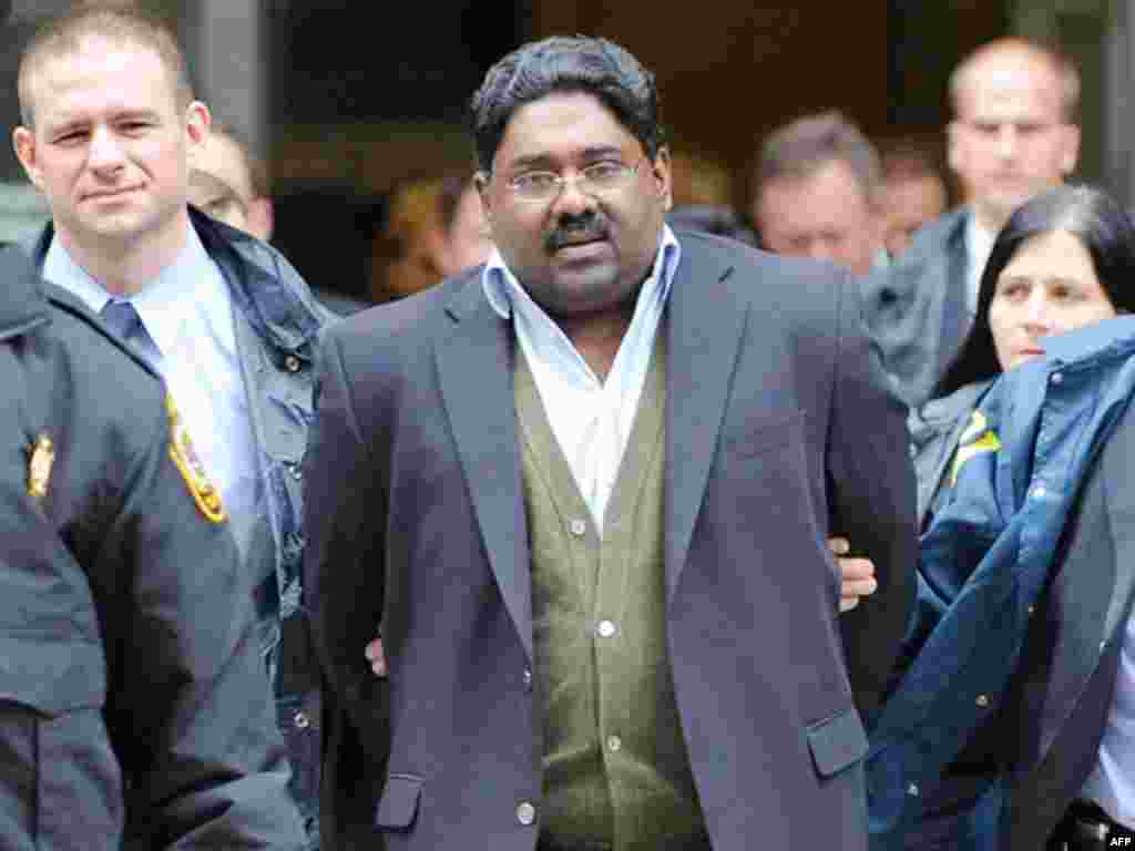 Raj Rajaratnam, billionaire founder of the Galleon Group, a major hedge fund, is led in handcuffs from FBI headquarters in New York. The agency said Gupta gave Raj Rajaratnam, the founder of the Galleon Group hedge fund, confidential information about qua