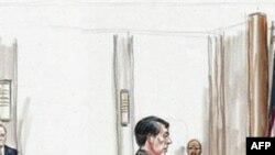 俄罗斯间谍嫌疑人在联邦法院出席听证(左就座二人)